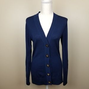 Tory Burch Navy Button Down Cardigan size S